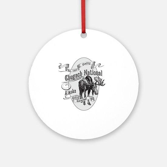 Chugach Vintage Moose Round Ornament