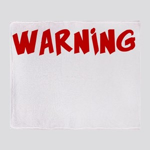 Warning If Zombies Chase Us, Im Trip Throw Blanket