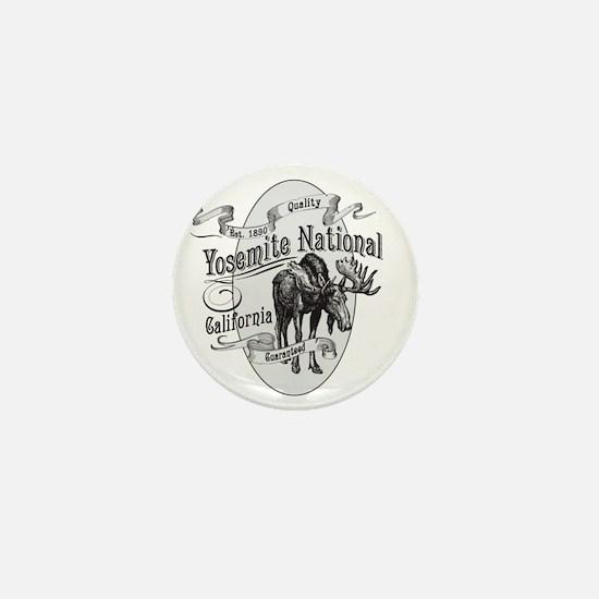 Yosemite Vintage Moose Mini Button