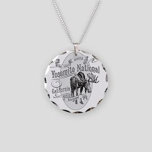 Yosemite Vintage Moose Necklace Circle Charm