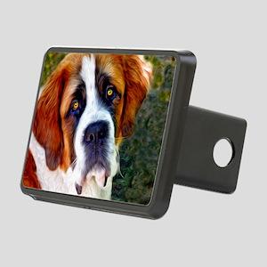 St Bernard Dog Photo Paint Rectangular Hitch Cover
