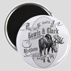 Lewis  Clark Vintage Moose Magnet