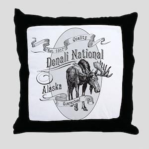 Denali Vintage Moose Throw Pillow