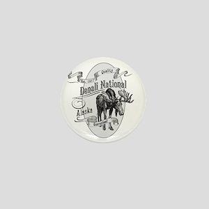 Denali Vintage Moose Mini Button