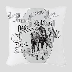 Denali Vintage Moose Woven Throw Pillow