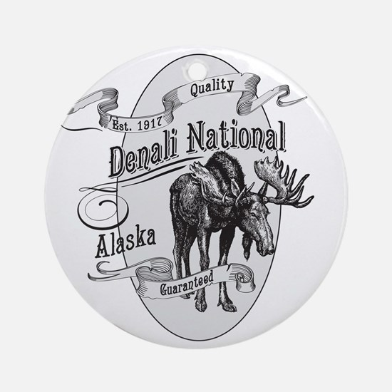 Denali Vintage Moose Round Ornament