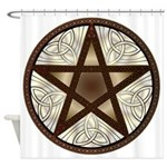 Celtic Pentagram 1 - Shower Curtain