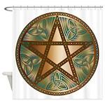 Celtic Pentagram - 2 - Shower Curtain