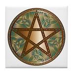 Celtic Pentagram - 2 - Tile Coaster