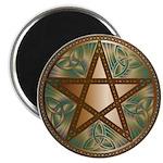 Celtic Pentagram - 2 - Round Magnet
