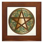 Celtic Pentagram - 2 - Framed Tile
