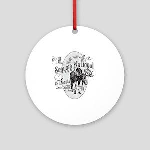Sequoia Vintage Moose Round Ornament