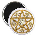 Pentacle Double Woven Wicker-Holly-Oak Magnet