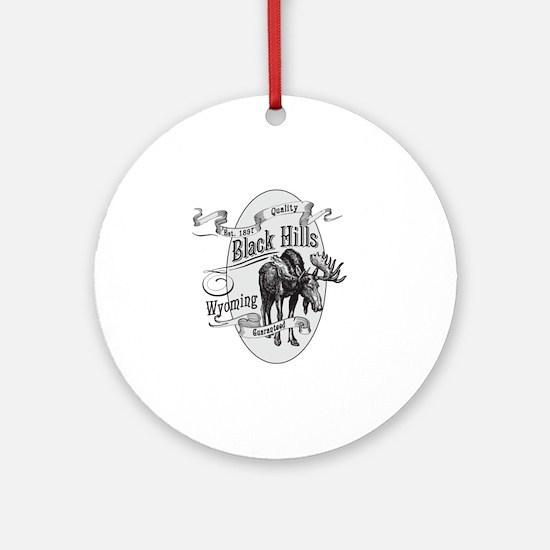Black Hills Vintage Moose Round Ornament