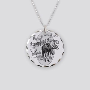 Steamboat Springs Vintage Mo Necklace Circle Charm