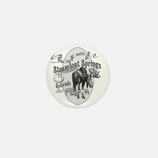 Steamboat Springs Vintage Moose Mini Button
