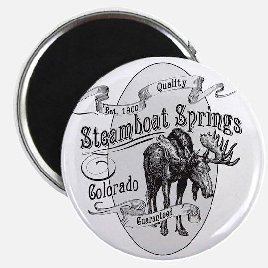Steamboat Springs Vintage Moose Magnet