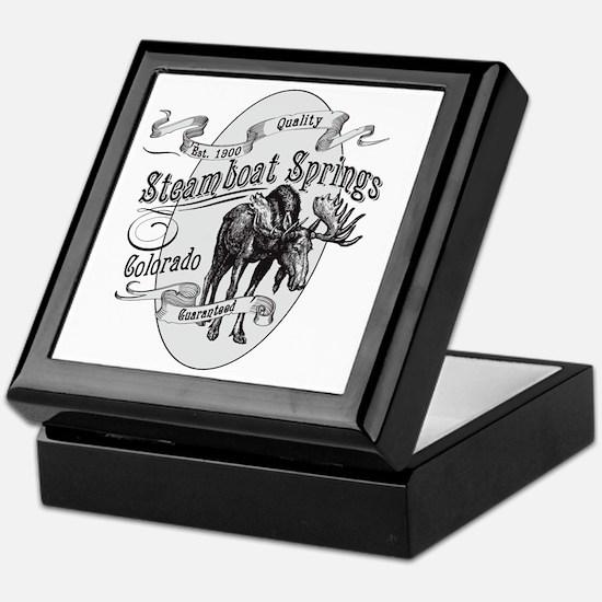 Steamboat Springs Vintage Moose Keepsake Box