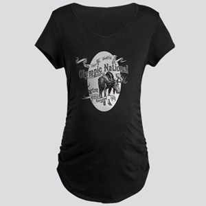Olympic National Vintage Mo Maternity Dark T-Shirt