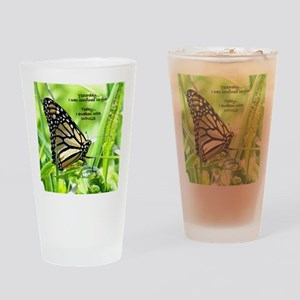 Thinking Butterfly Drinking Glass