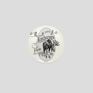 Anchorage Vintage Moose Mini Button