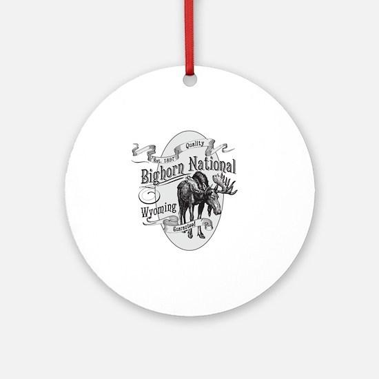 Bighorn Vintage Moose Round Ornament