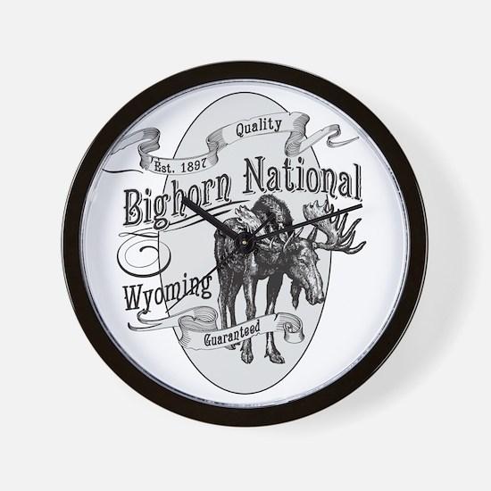 Bighorn Vintage Moose Wall Clock