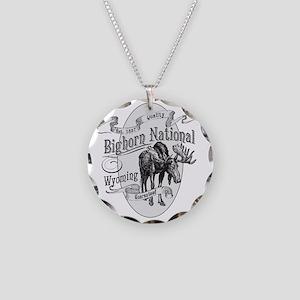 Bighorn Vintage Moose Necklace Circle Charm
