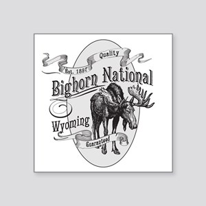 "Bighorn Vintage Moose Square Sticker 3"" x 3"""
