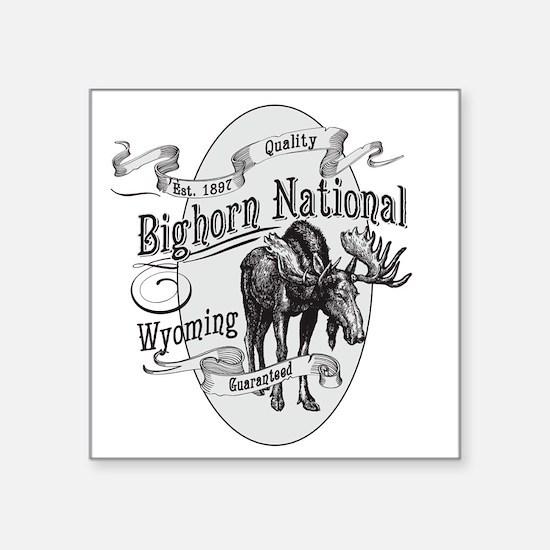 "Bighorn Vintage Moose Square Sticker 3"" x 3"""