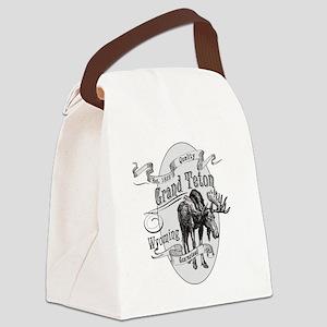 Grand Teton Vintage Moose Canvas Lunch Bag