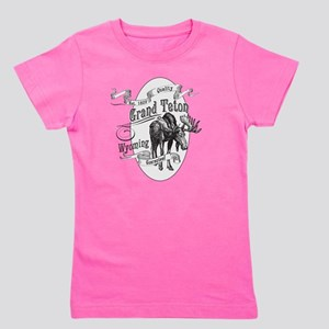Grand Teton Vintage Moose Girl's Tee