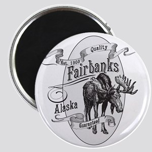 Fairbanks Vintage Moose Magnet