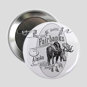 "Fairbanks Vintage Moose 2.25"" Button"