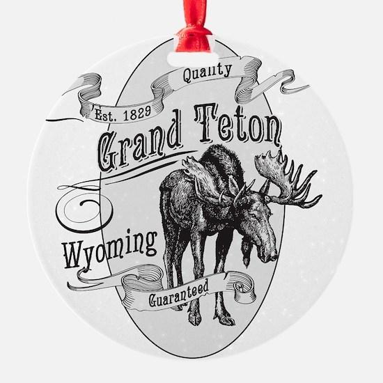 Grand Teton Vintage Moose Ornament