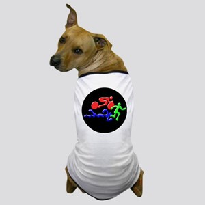 Triathlon Color Figures 3D Dog T-Shirt