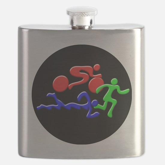 Triathlon Color Figures 3D Flask