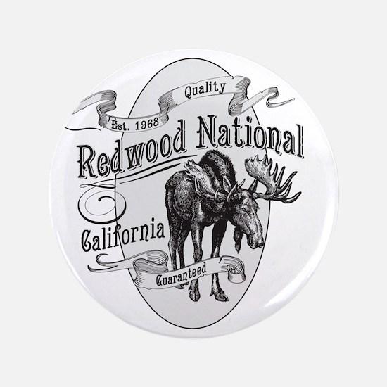 """Redwood Vintage Moose 3.5"""" Button"""