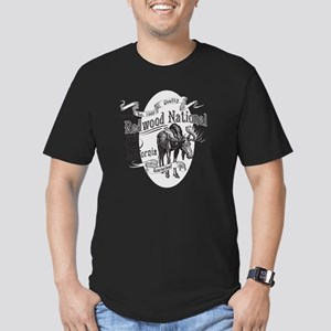 Redwood Vintage Moose Men's Fitted T-Shirt (dark)