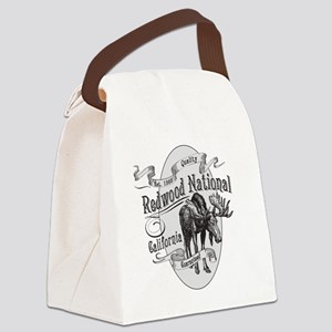 Redwood Vintage Moose Canvas Lunch Bag