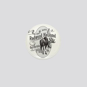 Redwood Vintage Moose Mini Button