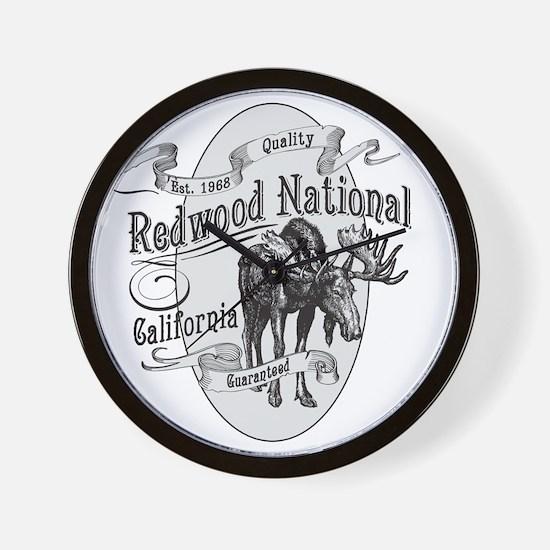 Redwood Vintage Moose Wall Clock