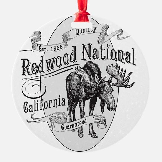 Redwood Vintage Moose Ornament