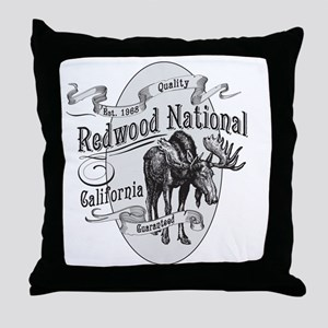 Redwood Vintage Moose Throw Pillow