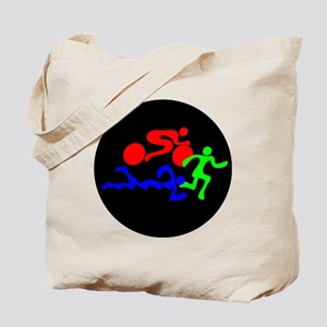 Triathlon Color Figures FLAT Tote Bag