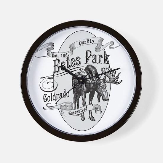 Estes Park Vintage Moose Wall Clock