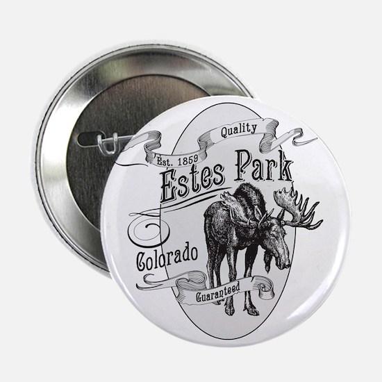 """Estes Park Vintage Moose 2.25"""" Button"""