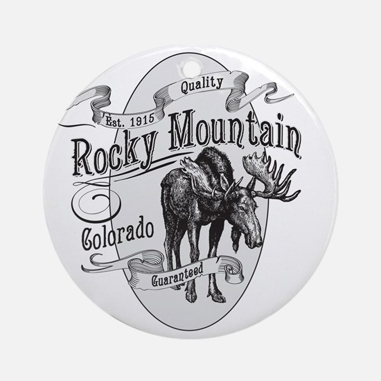 Rocky Mountain Vintage Moose Round Ornament