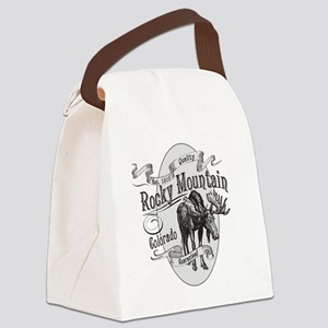 Rocky Mountain Vintage Moose Canvas Lunch Bag