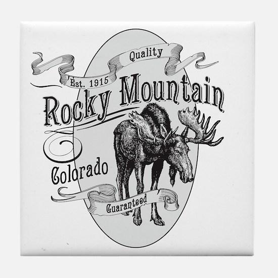 Rocky Mountain Vintage Moose Tile Coaster